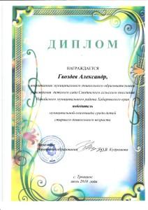 диплом победителя муниципальной олимпиады среди детей старшего дошкольного возраста